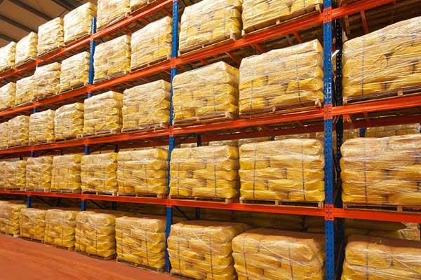 Yellow Iron Oxide in Storage